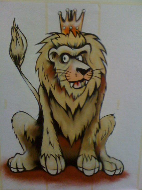 Muurschilderingen graffitiworkshops leeuw - Ongewoon behang ...