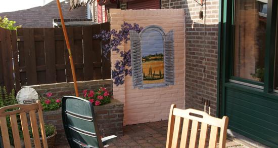 Muurschilderingen graffitiworkshops toscane - Deco trompe l oeil muurschildering ...